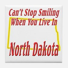 Can't Stop Smiling in ND Tile Coaster