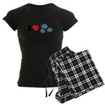 I Love Rocks Women's Dark Pajamas