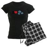 I Love Rocks Women's Dark Pajamas