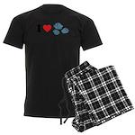 I Love Rocks Men's Dark Pajamas