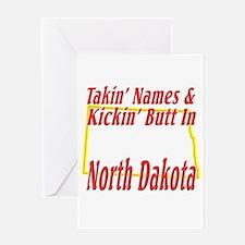 Kickin' Butt in ND Greeting Card