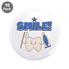 """Smile 3.5"""" Button (10 pack)"""