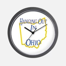 Hanging Out in OH Wall Clock