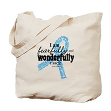 Fearfully made Blue ribbon Tote Bag