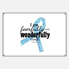 Fearfully made Blue ribbon Banner