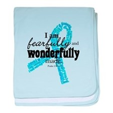 Fearfully made Blue ribbon baby blanket