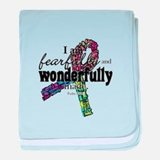 Fearfully made rainbow ribbon baby blanket