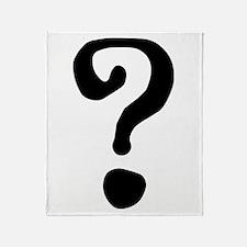 Question Mark Throw Blanket