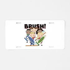 Remember to Brush Aluminum License Plate