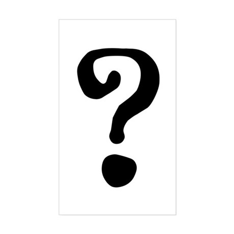 Question Mark Sticker (Rectangle)