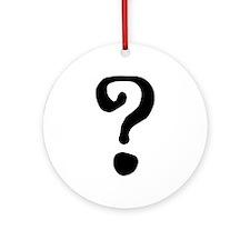 Question Mark Ornament (Round)