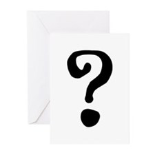 Question Mark Greeting Cards (Pk of 10)