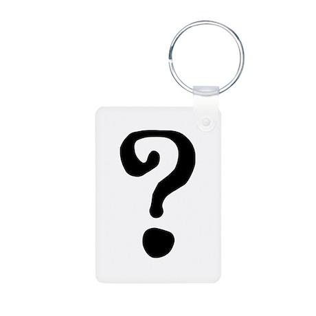 Question Mark Aluminum Photo Keychain