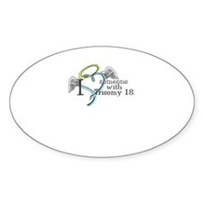 Love an angel with Trisomy 18 Decal