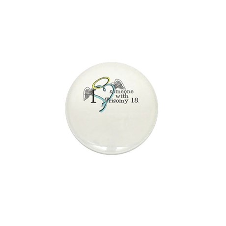Love an angel with Trisomy 18 Mini Button (10 pack