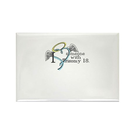 Love an angel with Trisomy 18 Rectangle Magnet