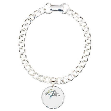 Love an angel with Trisomy 18 Charm Bracelet, One