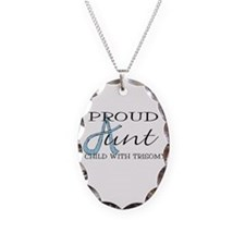 Proud T18 Aunt Necklace Oval Charm