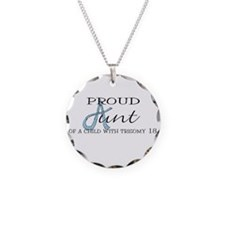 Proud T18 Aunt Necklace Circle Charm