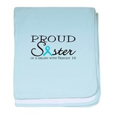 Proud T18 sister baby blanket