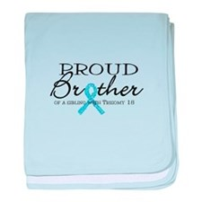 Proud T18 Brother baby blanket