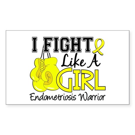 Licensed Fight Like A Girl 15. Sticker (Rectangle)