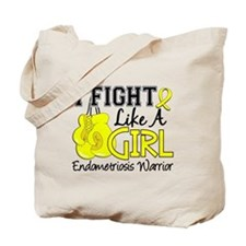 Fight Like A Girl Endometriosis Tote Bag
