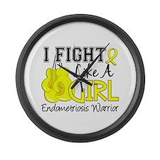 Fight Like A Girl Endometriosis Large Wall Clock