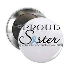 "Proud T18 angel sister 2.25"" Button (100 pack)"