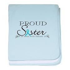 Proud T18 angel sister baby blanket