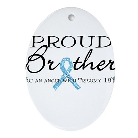 Proud T18 angel brother Ornament (Oval)
