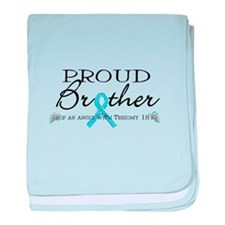 Proud T18 angel brother baby blanket