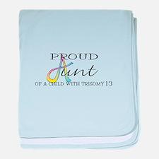 Proud T13 Aunt baby blanket