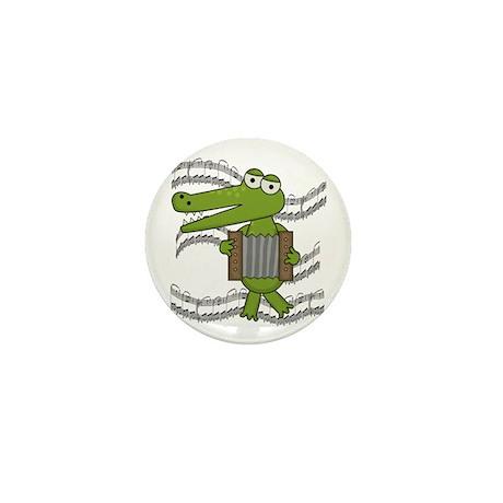 Crocodile With Accordion Mini Button