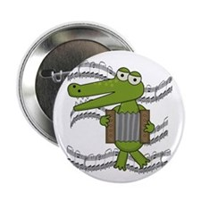 "Crocodile With Accordion 2.25"" Button"