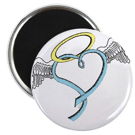 "Winged blue angel heart 2.25"" Magnet (10 pack)"