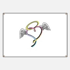 Rainbow angel heart Banner