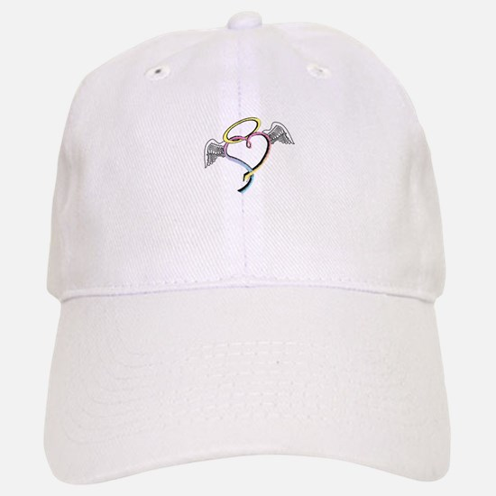 Rainbow angel heart Baseball Baseball Cap