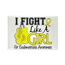 Fight Like A Girl Endometriosis Rectangle Magnet