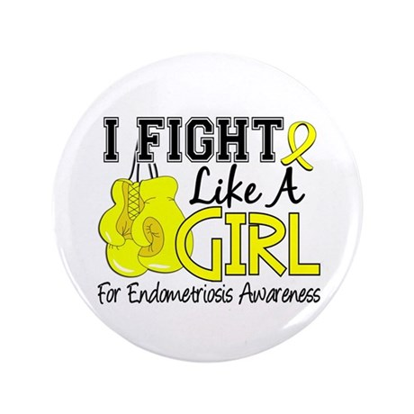 Licensed Fight Like A Girl 15.5 Endometrios Button