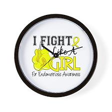 Fight Like A Girl Endometriosis Wall Clock