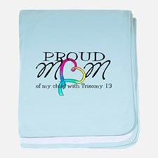 Proud T13 mom baby blanket
