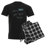 1950 Men's Dark Pajamas