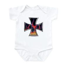 Flaming Iron Cross Infant Creeper