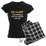 Be Alert, World Needs Lerts Women's Dark Pajamas