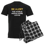 Be Alert, World Needs Lerts Men's Dark Pajamas