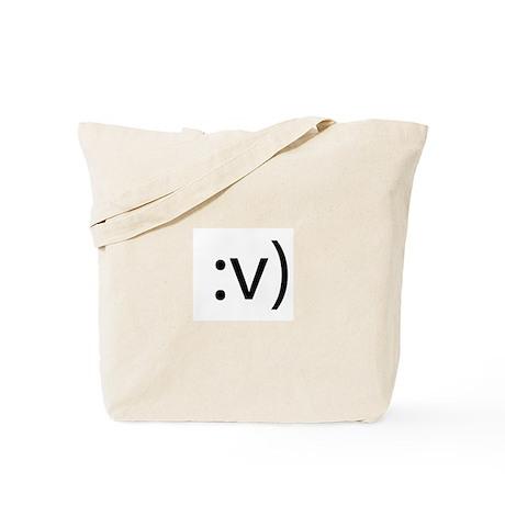 Broken Nose Smilie Tote Bag