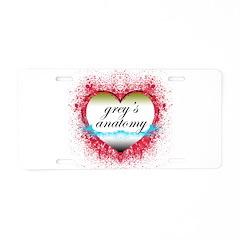 Heart Grey's Anatomy Aluminum License Plate