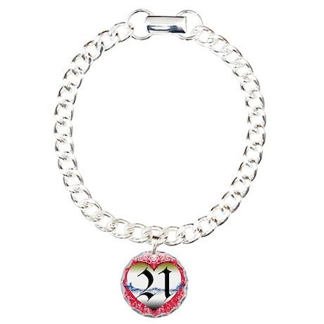 21st Charm Bracelet, One Charm