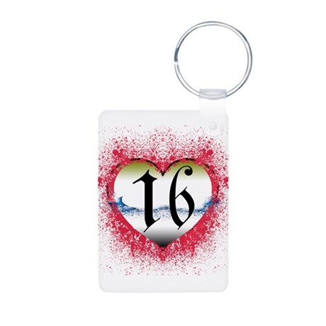 Gothic Heart 16th Aluminum Photo Keychain